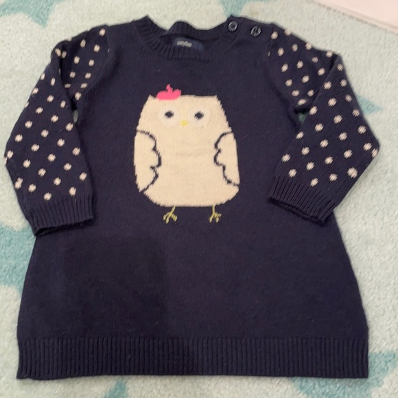 Cute and super soft Baby Gap dress with baby owl